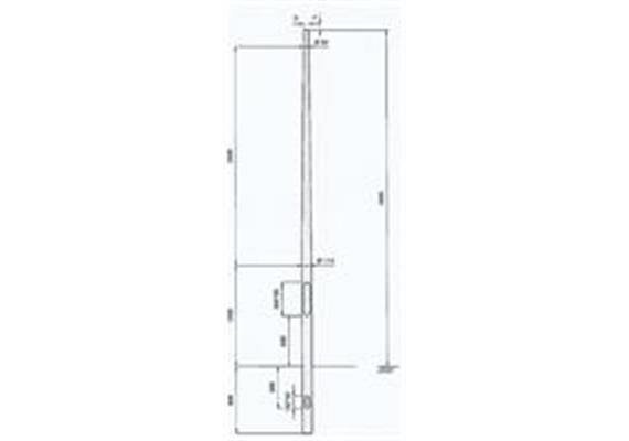 Kandelaber Aluminium Masthöhe 4m