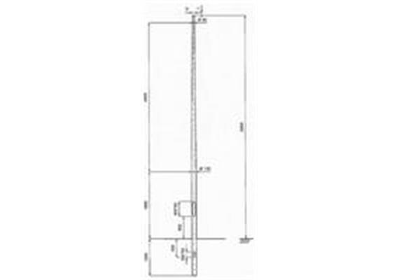 Kandelaber Aluminium Masthöhe 6m
