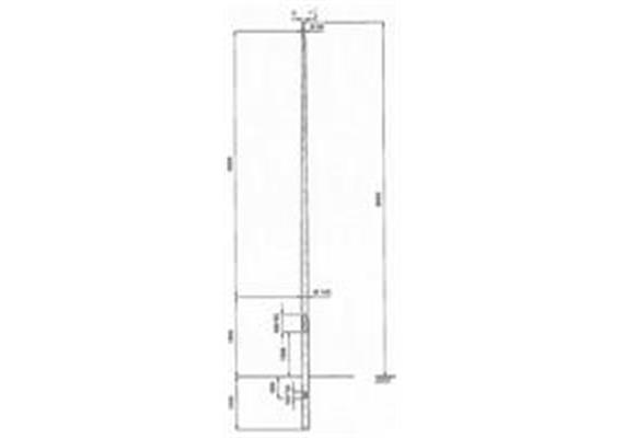 Kandelaber Aluminium Masthöhe 8m