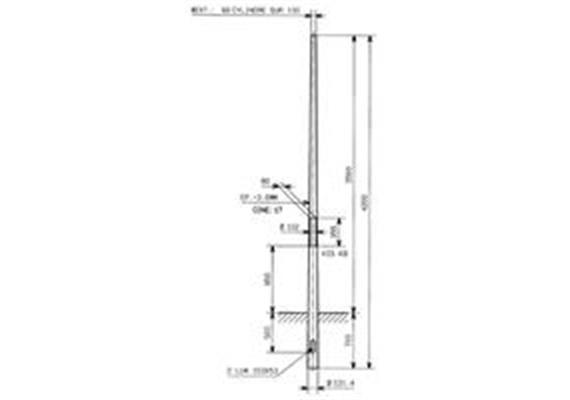 Kandelaber Stahl Masthöhe 3.5m