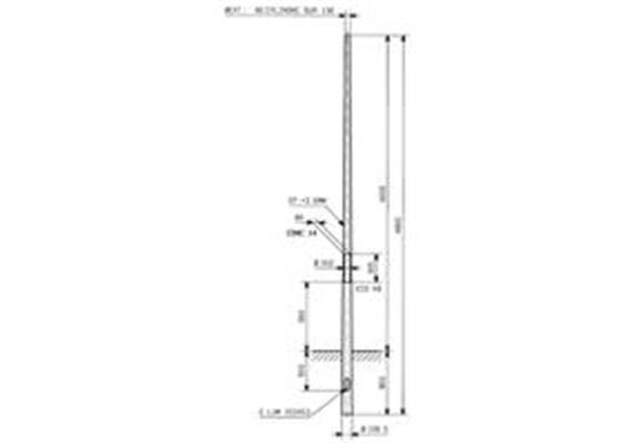 Kandelaber Stahl Masthöhe 4m