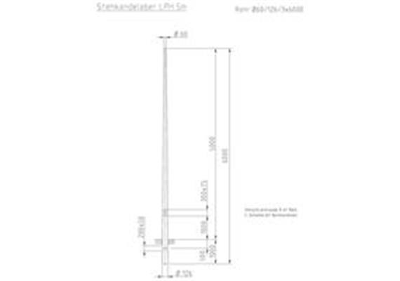 Kandelaber Stahl Masthöhe 5m