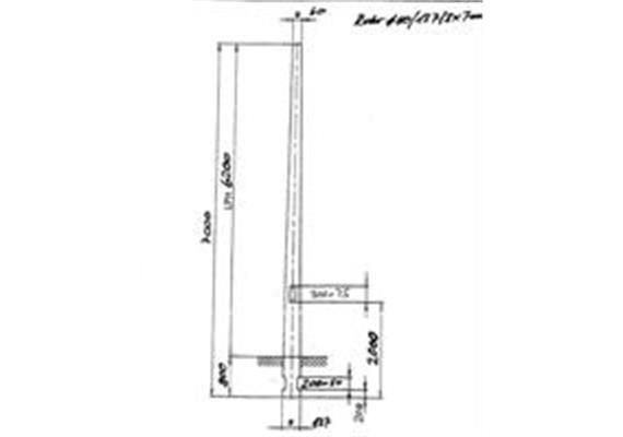 Kandelaber Stahl Masthöhe 6.2m Ankerkorb Montage