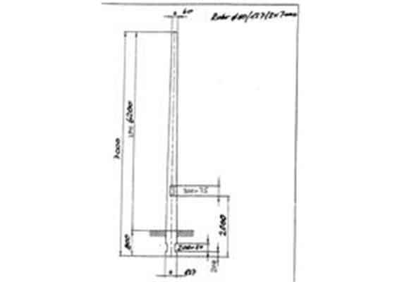 Kandelaber Stahl Masthöhe 6.2m