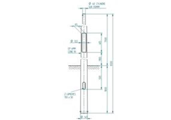 Kandelaber Stahl Masthöhe 7.5m