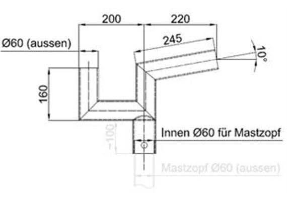 Tragwerk ewo - Swiss Licht 2-armig 10 Grad