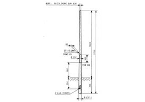 Kandelaber Stahl Masthöhe 3m
