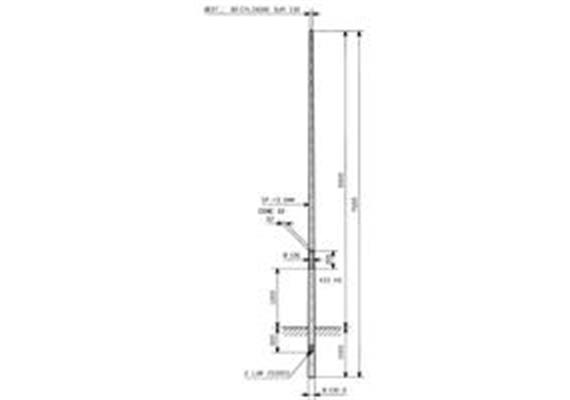 Kandelaber Stahl Masthöhe 6m