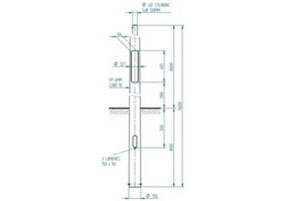 Kandelaber Stahl Masthöhe 8m