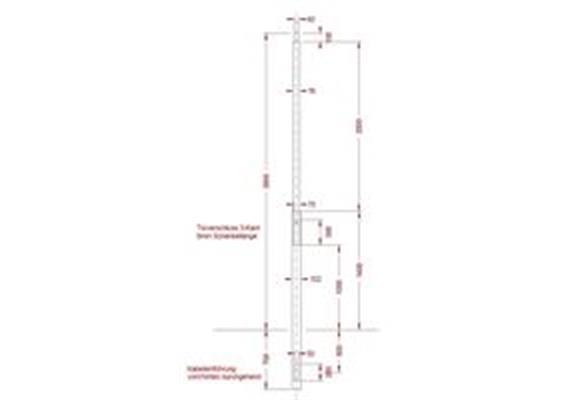 Kandelaber Stahl zylindrisch abgestuft, LPH 3.5m