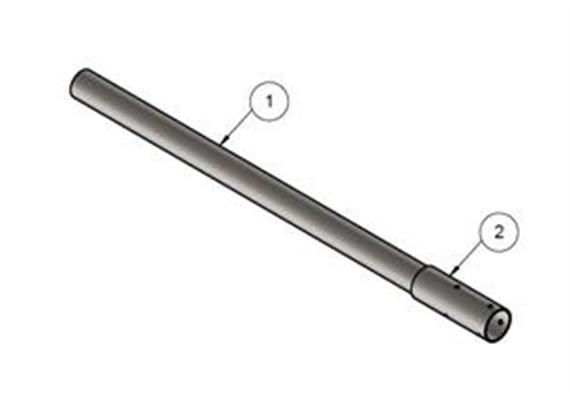 Kandelaberverlängerung 2000mm Stahl