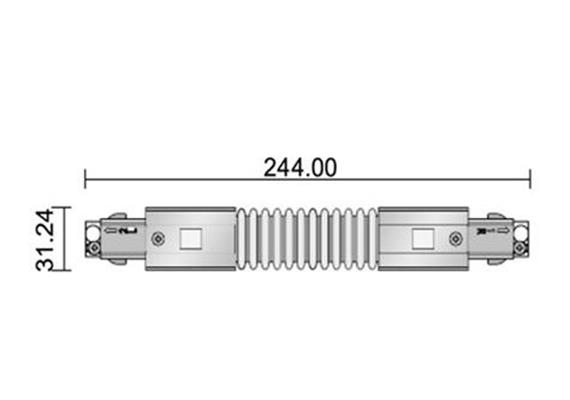 L-Verbindungsstück 180 Grad drehbar