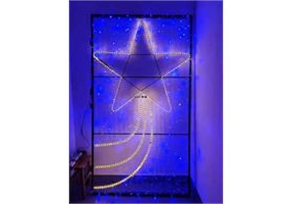 Weihnachtsbeleuchtung Stern mit blauem Hintergrund